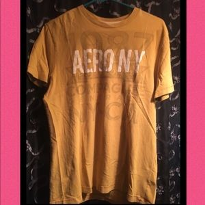 Aeropostale NY - Men's Gold T-Shirt medium